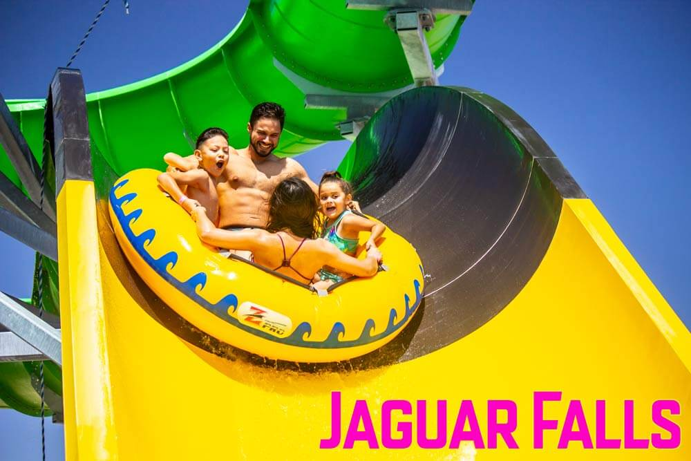 Jaguar fallas family raft tide wet n wild water world