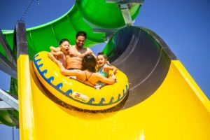 Family in wet n wild water world