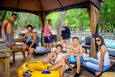 rio, kiddee, wet n wild water world family in cabana