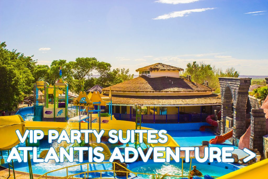 Wet N Wild Water park Party Suites Atlantis Adventure